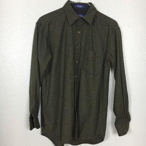 Pendleton | Lodge Shirt Green Wool Medium